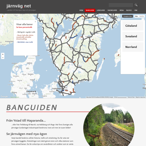 Guide till Sveriges järnvägar. Lär dig mer om historia, trafik och stationer och få tips på sevärdheter.