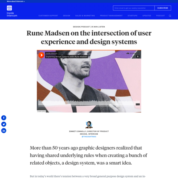 Rune Madsen on the intersection of user experience and design systems - Inside Intercom