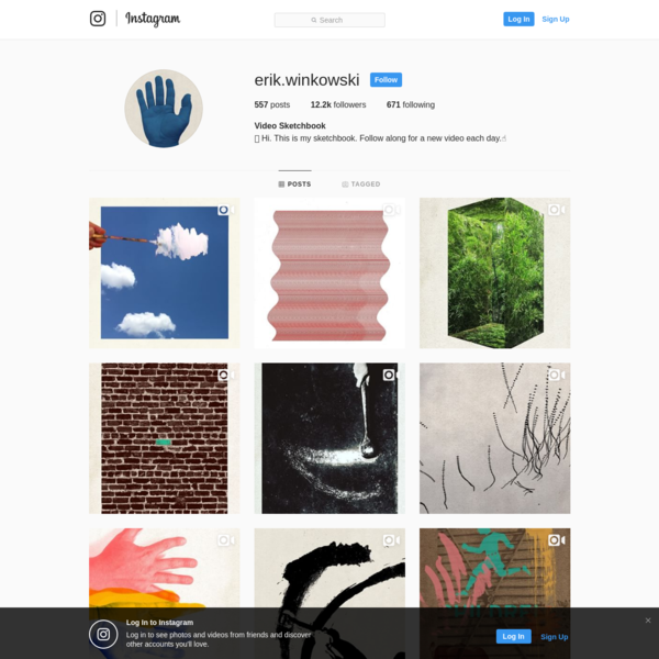 12.2k Followers, 671 Following, 557 Posts - See Instagram photos and videos from Video Sketchbook (@erik.winkowski)