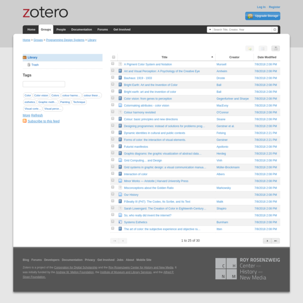 Zotero | Groups > Programming Design Systems > Library