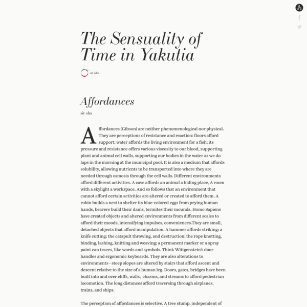The Sensuality of Time in Yakutia