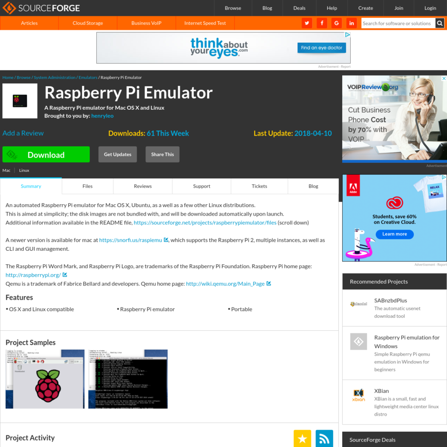 Download Raspberry Pi Emulator for free. A Raspberry Pi emulator for Mac OS X and Linux. An automated Raspberry Pi emulator for Mac OS X, Ubuntu, as a well as a few other Linux distributions. This is aimed at simplicity;