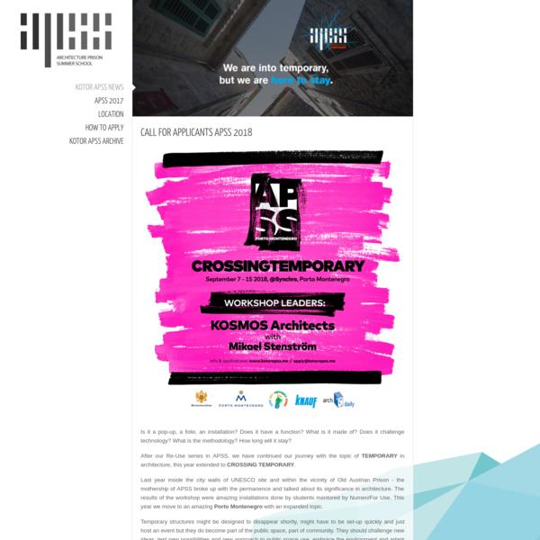 Kotor Art Kotor APSS official internet presentation.