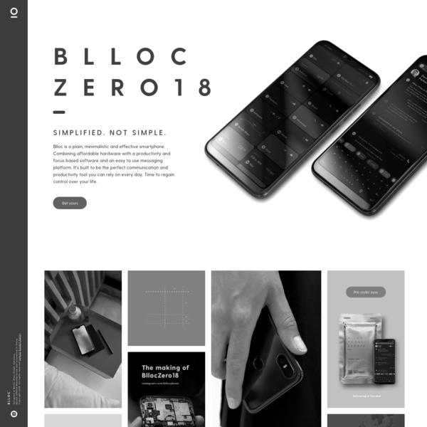 Blloc | Minimalist people first phone