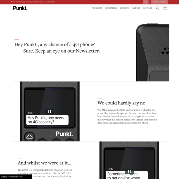The Punkt. MP02 4G mobile phone