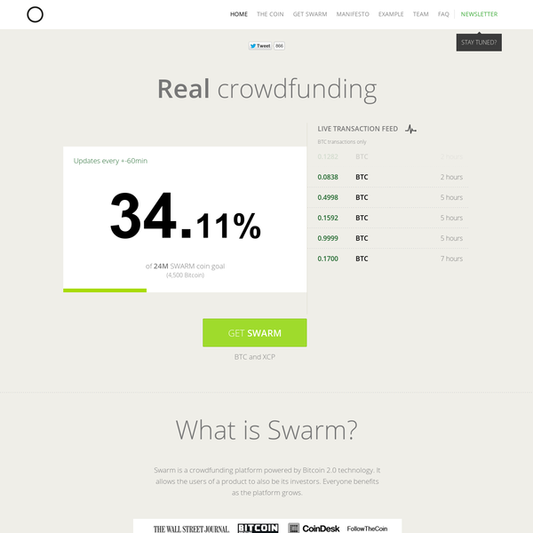 Swarm - Real crowdfunding   swarmcorp.com