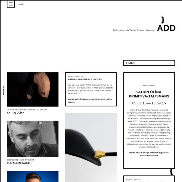 Aalto University Digital Design Laboratory, ADD