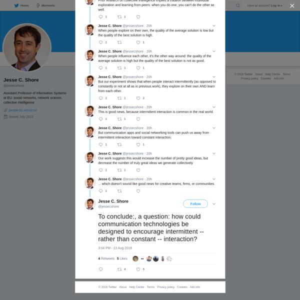 Jesse C. Shore on Twitter