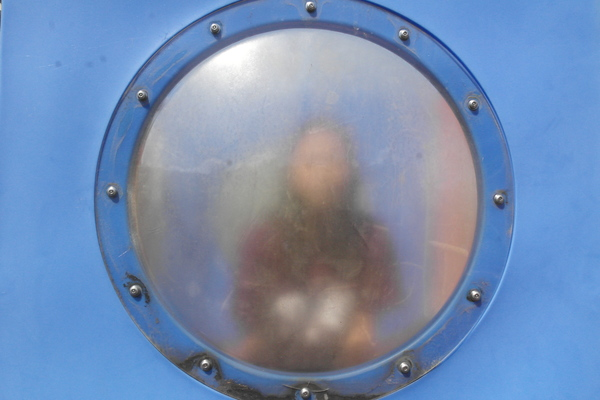 This is a part of the playground that we would always try to communicate through. The glass used to be see through, but is now foggy.