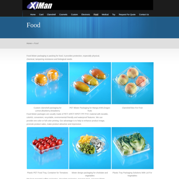 Food | Blister Packaging Manufacturer