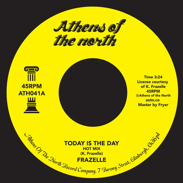 Frazelle - Today Is The Day by Frazelle, released 27 January 2017 1. Today is The Day(hot mix) 2. Today is The Day (Shadow Hills Mix) HUGE record if you're into disco, modern or just good fucking music and you probably don't own unless you work in the city or spend half you life looking for it.