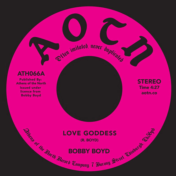 Love Goddess / Bad News by Bobby Boyd, released 24 July 2018 1. Love Goddess (Previously Unreleased) 2. Good News (Tired Of Bad News) - (Previously Unreleased) This month we have what is the start of a string of previously unreleased bangers from the soul, funk and disco legend Bobby Boyd, we have been working on this for a long time and really proud to be working alongside Bobby representing him.