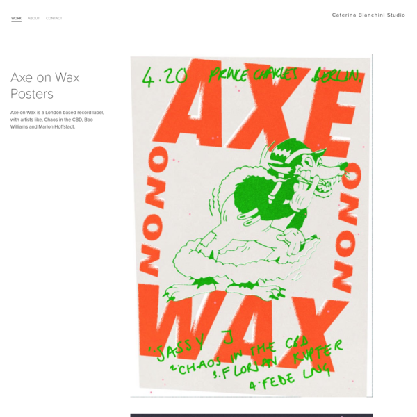 Axe on Wax is a London based record label, with artists like, Chaos in the CBD, Boo Williams and Marlon Hoffstadt.