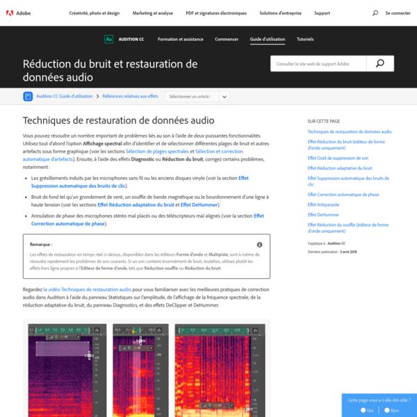 Application des techniques de réduction du bruit et des effets de restauration