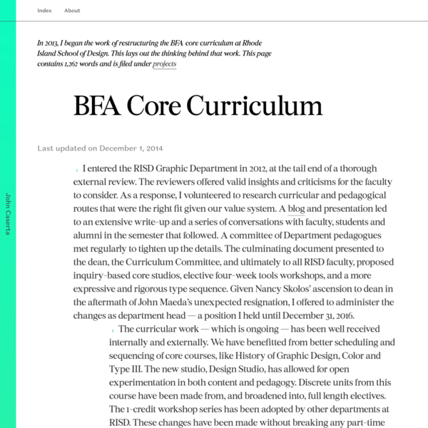 John Caserta designs symbols, patterns, tools, sites, systems, classrooms and curriculum
