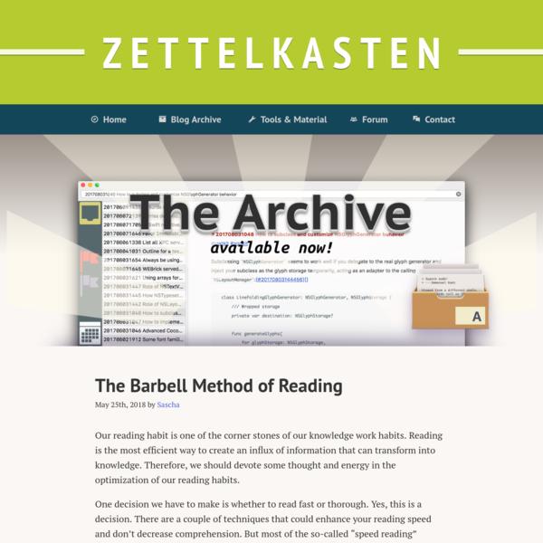 Zettelkasten knowledge and info management * Zettelkasten Method