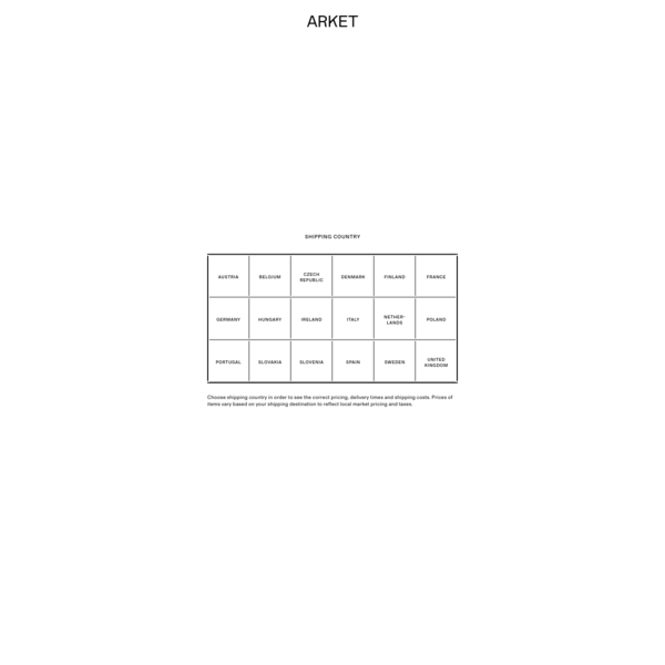 ARKET - A modern-day market - Online shop