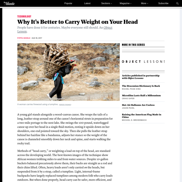 Why It's Better to Carry Weight on Your Head