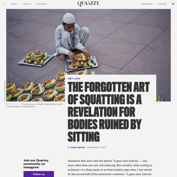 The forgotten art of squatting is a revelation for bodies ruined by sitting