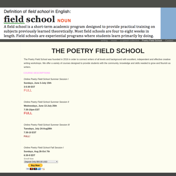 Poetry Field School
