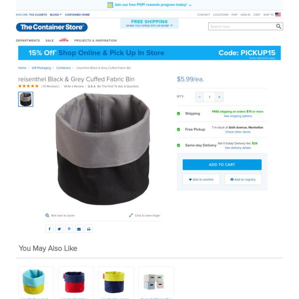 reisenthel Black & Grey Cuffed Fabric Bin