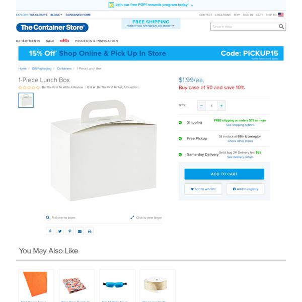 1-Piece Lunch Box