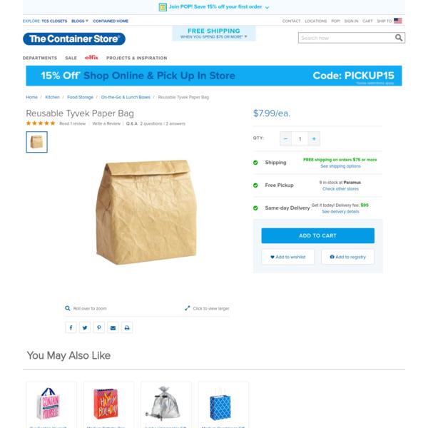 Reusable Tyvek Paper Bag