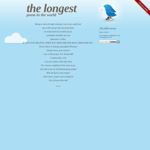 The Longest Poem in the World