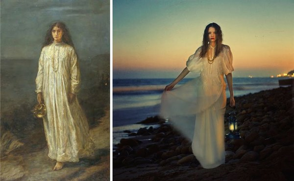 Great styling and inspired by a painting.