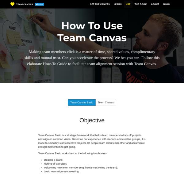 Use Team Canvas - Team Canvas