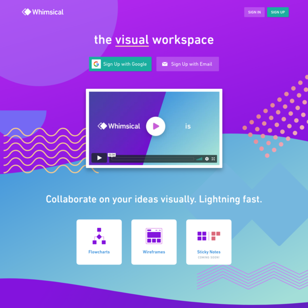 Whimsical - Collaborate on your ideas visually