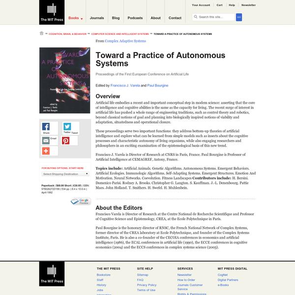 Toward a Practice of Autonomous Systems