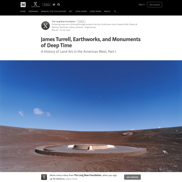 James Turrell, Earthworks, and Monuments of Deep Time