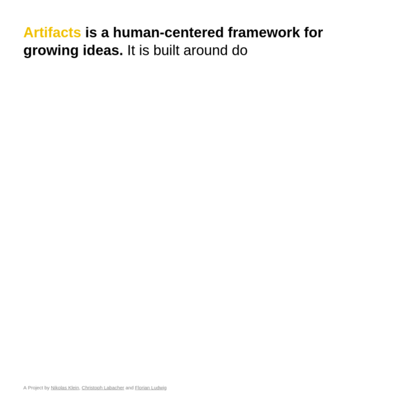 A Human-Centered Framework for Growing Ideas