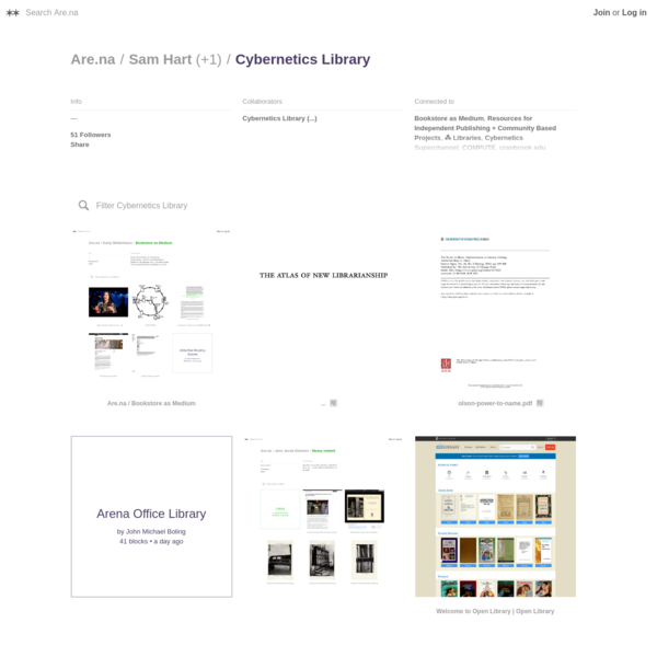Are.na / Cybernetics Library