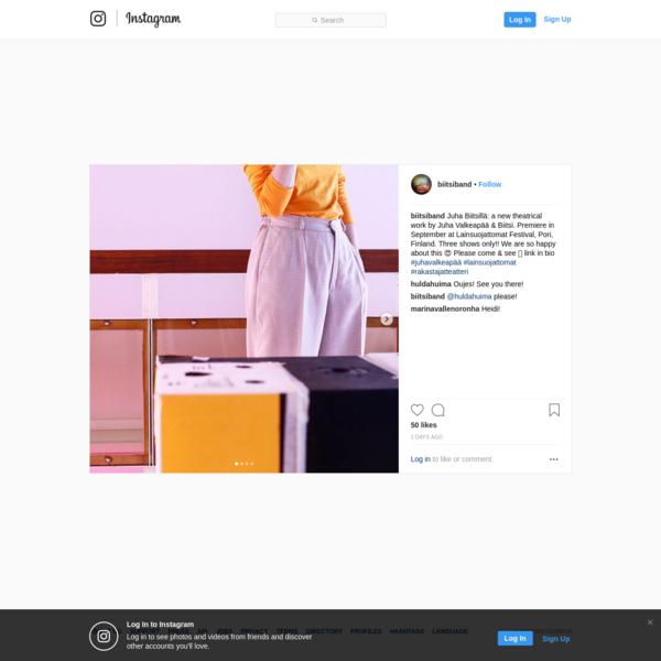 """50 Likes, 4 Comments - Biitsi (@biitsiband) on Instagram: """"Juha Biitsillä: a new theatrical work by Juha Valkeapää & Biitsi. Premiere in September at..."""""""