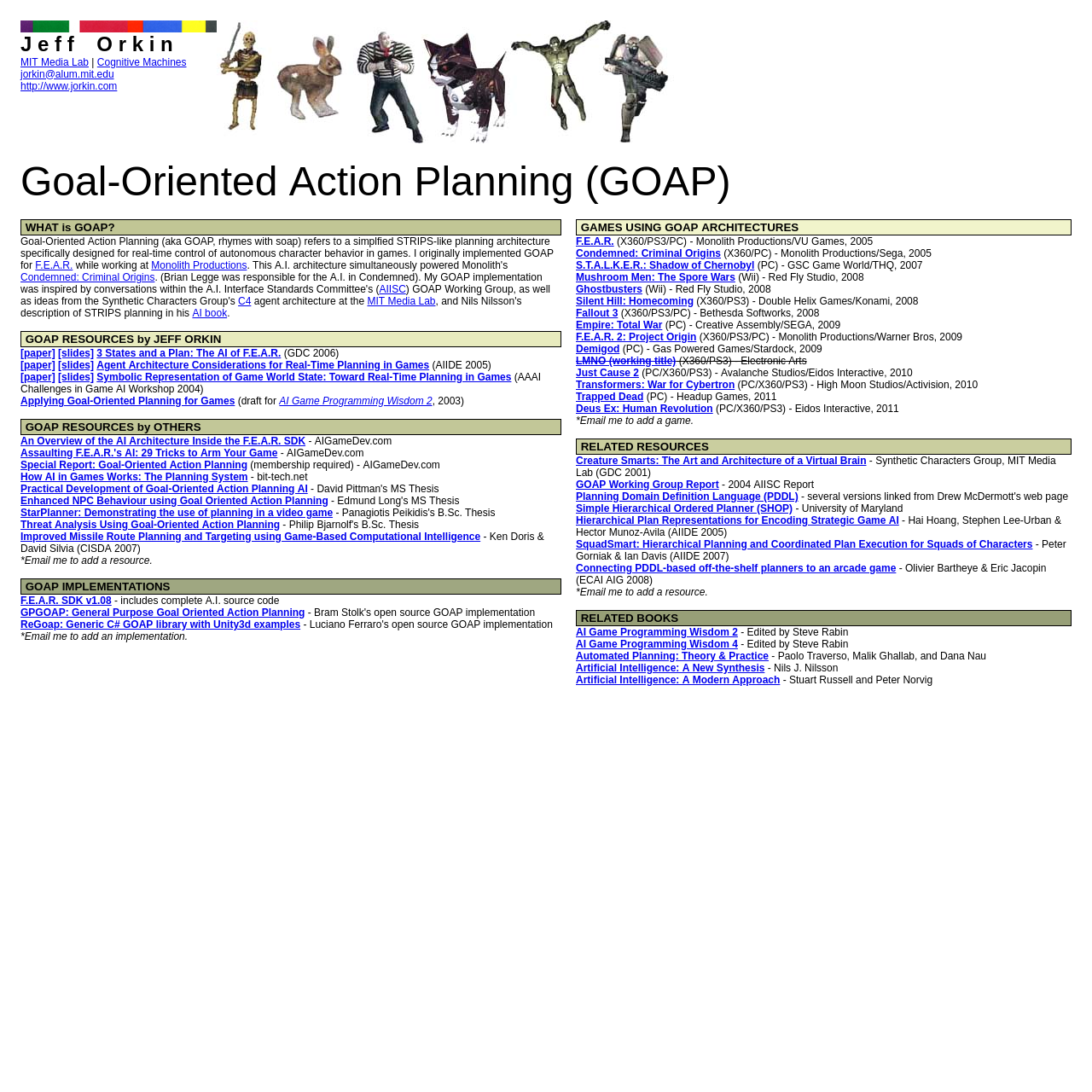 Are na / Goal-Oriented Action Planning (GOAP)