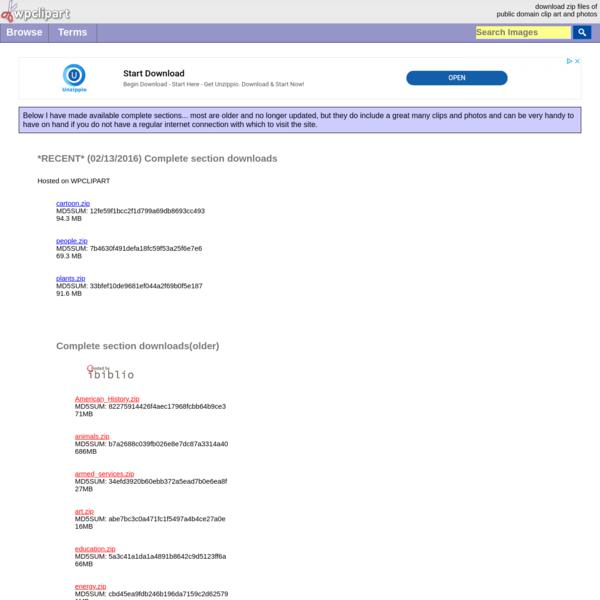 Public Domain Downloads at WPClipart