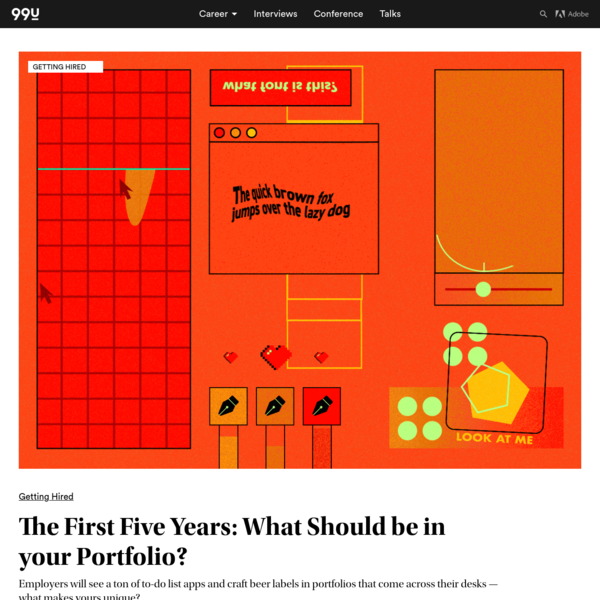 The First Five Years: What Should be in your Portfolio?
