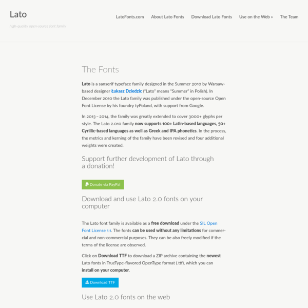 The Fonts - Lato