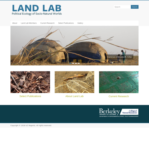 Land Lab - Political Ecology of Socio-Natural Worlds