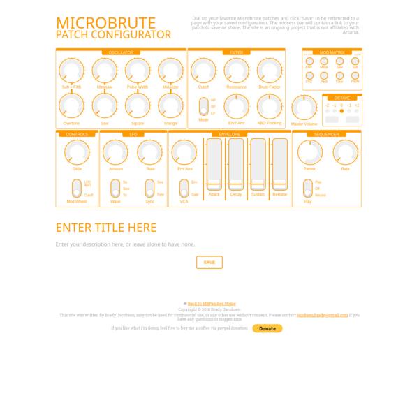 MicroBrute Patch Configurator