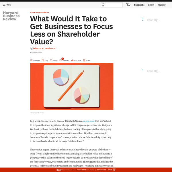 What Would It Take to Get Businesses to Focus Less on Shareholder Value?