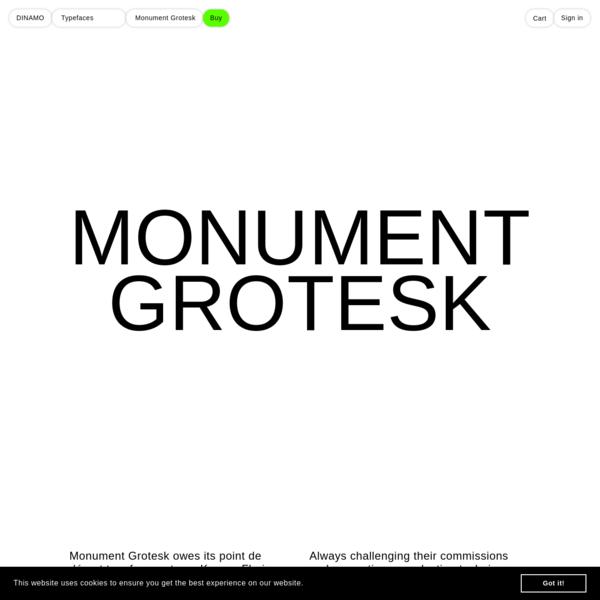 DINAMO: Typefaces: Monument Grotesk