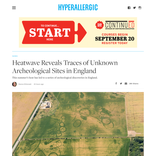 Heatwave Reveals Traces of Unknown Archeological Sites in England