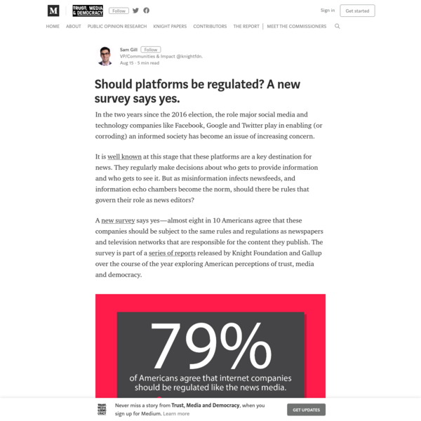 Should platforms be regulated? A new survey says yes.