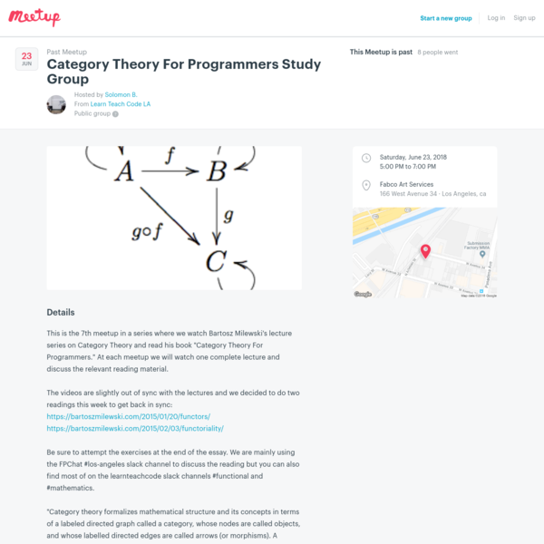 Category Theory For Programmers Study Group