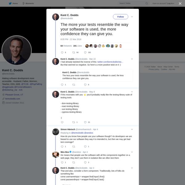 Kent C. Dodds on Twitter