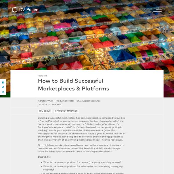 How to Build Successful Marketplaces & Platforms | BCGDV Pollen