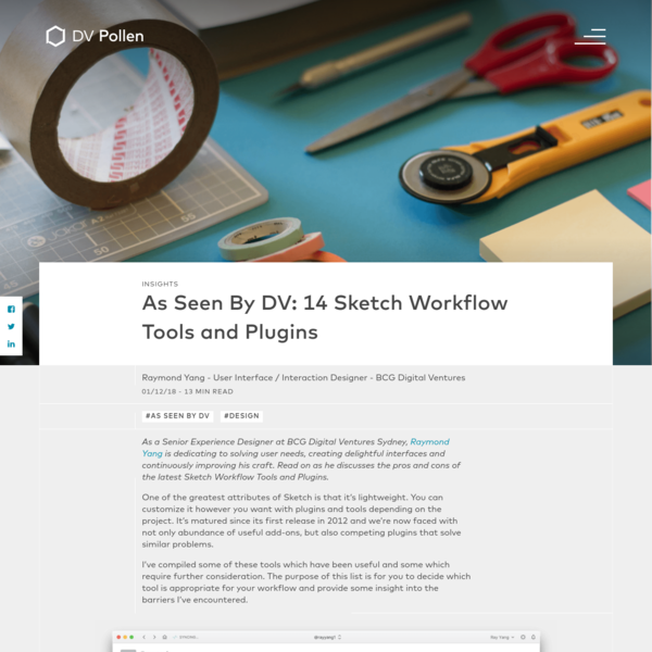 As Seen By DV: 14 Sketch Workflow Tools and Plugins | BCGDV Pollen